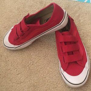 881494a922 Vans Shoes - Uni-sex Red Velcro Vans